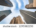 highrises in san francisco's... | Shutterstock . vector #1295382250