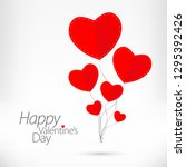 valentines day love card with... | Shutterstock . vector #1295392426