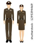 thai police officer uniform... | Shutterstock .eps vector #1295394469