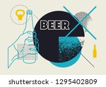 beer typographic abstract... | Shutterstock .eps vector #1295402809