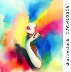 Abstract Woman. Rainbow...