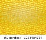gold metal hexagon texture | Shutterstock .eps vector #1295404189