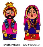 indian family   man and woman...   Shutterstock .eps vector #1295409010