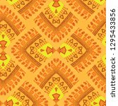 seamless grey ethnic pattern.... | Shutterstock . vector #1295433856
