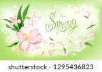 beautiful floral background... | Shutterstock .eps vector #1295436823