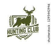 hunting logo   deer hunting... | Shutterstock .eps vector #1295442946