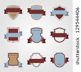 vintage heraldry shields and... | Shutterstock .eps vector #129544406