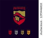 patriots logo design vector.... | Shutterstock .eps vector #1295446810
