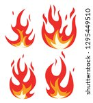 vector collection of fire icons.... | Shutterstock .eps vector #1295449510