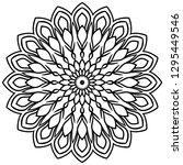 outline mandala. ornamental... | Shutterstock .eps vector #1295449546
