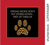 leopard paw. strong people.... | Shutterstock .eps vector #1295456689