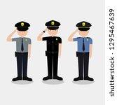 us police vector illustration.... | Shutterstock .eps vector #1295467639