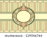 retro pastel colored vector... | Shutterstock .eps vector #129546764