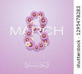 international women's day... | Shutterstock .eps vector #1295478283