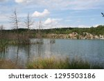 the beautiful river with rocky...   Shutterstock . vector #1295503186
