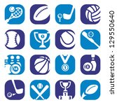 elegant colorful sports icons...   Shutterstock .eps vector #129550640