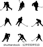 hockey players silhouettes | Shutterstock .eps vector #1295509510