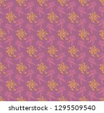 seamless decorative pattern... | Shutterstock .eps vector #1295509540