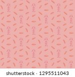 seamless pattern with... | Shutterstock .eps vector #1295511043