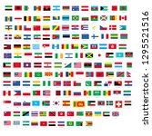 all official national flags of... | Shutterstock .eps vector #1295521516