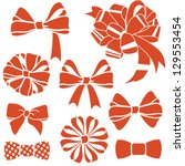vector red present bows set | Shutterstock .eps vector #129553454
