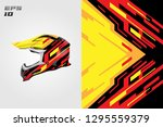 wrap helmet designs vector .... | Shutterstock .eps vector #1295559379