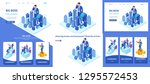 set template article  landing...   Shutterstock .eps vector #1295572453