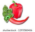 bulgarian and hot pepper...   Shutterstock .eps vector #1295580406