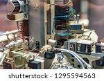 close up detail of spacecraft.... | Shutterstock . vector #1295594563