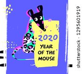 2020 mouse happy new year...   Shutterstock .eps vector #1295601919