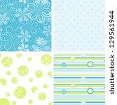 scrapbook patterns for design | Shutterstock . vector #129561944