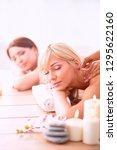 two young beautiful women... | Shutterstock . vector #1295622160