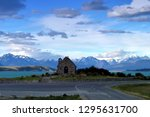 church of the good shepherd ... | Shutterstock . vector #1295631700