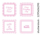 elegant lace border frames... | Shutterstock . vector #1295636290