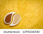 gluten free brown and ivory... | Shutterstock . vector #1295636530