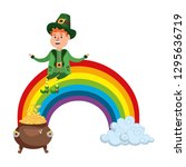 st patricks day cartoon | Shutterstock .eps vector #1295636719