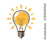 lightbulb  bulb. electricity ... | Shutterstock .eps vector #1295650963