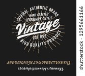 vintage. retro logo. original... | Shutterstock .eps vector #1295661166