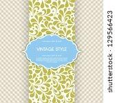 vector ornate frame for... | Shutterstock .eps vector #129566423