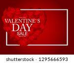 valentines day sale  discont... | Shutterstock .eps vector #1295666593