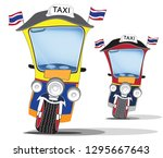 thai taxi 3 wheel to say tuk... | Shutterstock .eps vector #1295667643