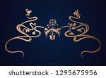 art nouveau gold ornament... | Shutterstock .eps vector #1295675956