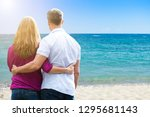 rear view of mature couple... | Shutterstock . vector #1295681143