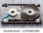 disassembled audio cassette... | Shutterstock . vector #1295682280