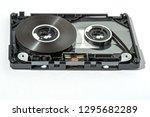 disassembled audio cassette... | Shutterstock . vector #1295682289