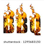 bbq. abbreviation for word ... | Shutterstock . vector #1295683150