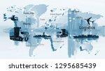 transportation  import export... | Shutterstock . vector #1295685439