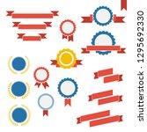 vector badge  labels and... | Shutterstock .eps vector #1295692330