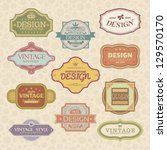 set of vintage styled frames | Shutterstock .eps vector #129570170