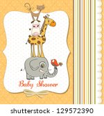 Baby Shower Card With Funny...